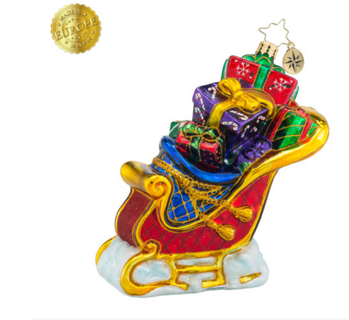 Christopher Radko Seasonal Sleigh Ornament