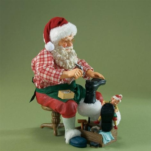 Possible Dreams 'Santa, The Elf And The Shoemaker' Figurine