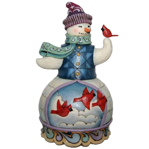 Dept 56 - Jim Shore-  Snowman with Cardinals