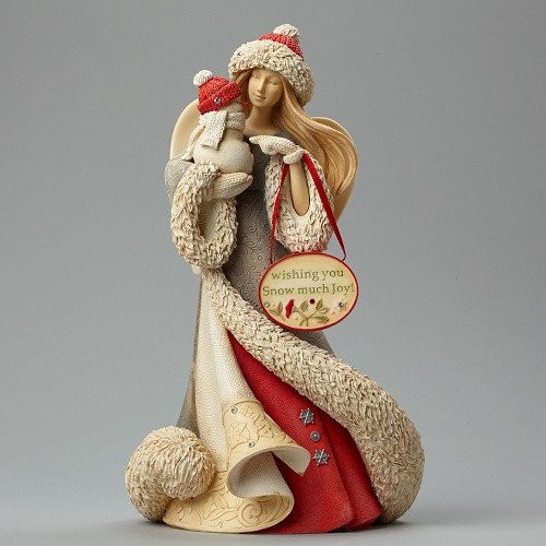 Heart of Christmas Angel with Snowman