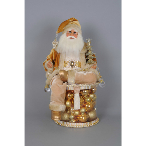 Karen Didion - Lighted Golden Christmas Shine Santa - Free Shipping!
