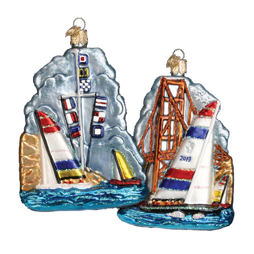 Old World Christmas - San Fransisco Sailing Ornament