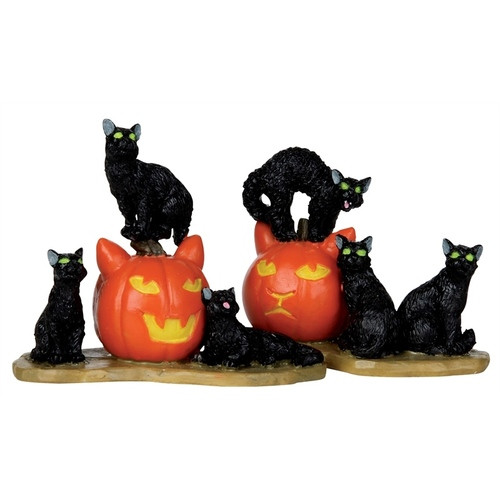 Lemax - Spooky Town Halloween Cats Set of 2