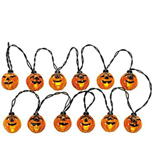 Lemax-  Lighted Pumpkin Garland Set of 12 B/O