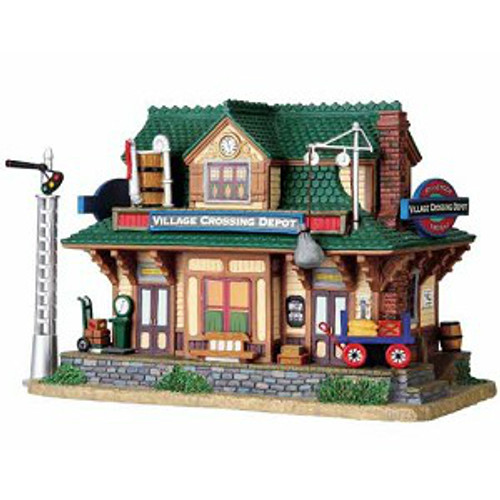Lemax - Village Crossing Depot Set of 2