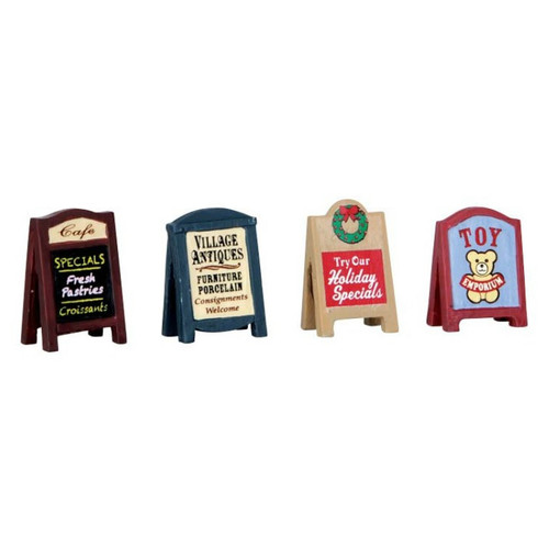 Lemax - Village Signs Set of 4