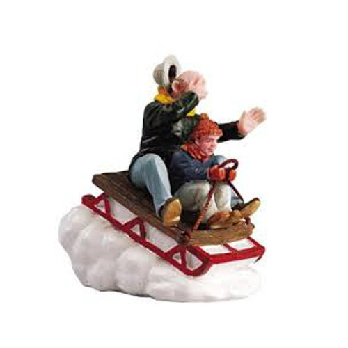 Lemax- Sledding With Gramps