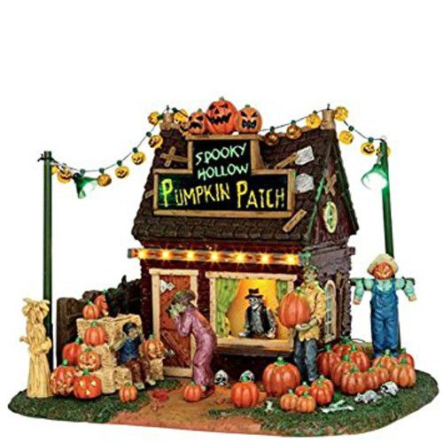 Lemax- Spooky Hollow Pumpkin Patch B/O