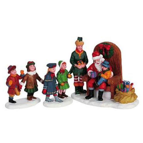 LEMAX- Visiting Santa Set of 3