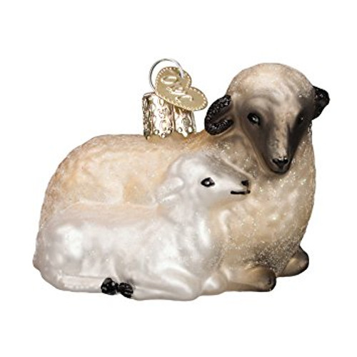 Old World Christmas - Sheep with Lamb Ornament