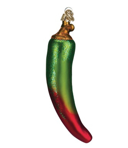 Old World Glass - Green Chili Pepper Ornament