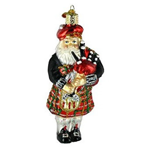 Old World Glass - Highland Santa Ornament