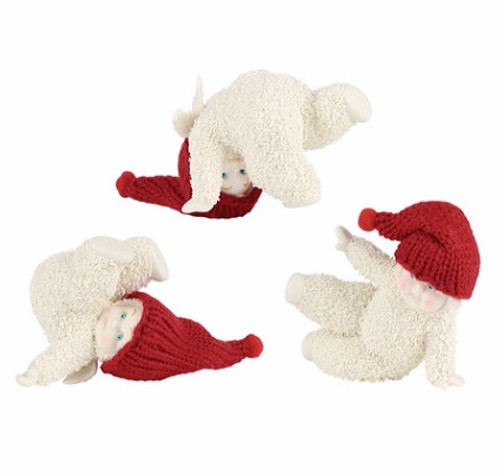 Snowbabies- Tumbling Trio, Set of 3