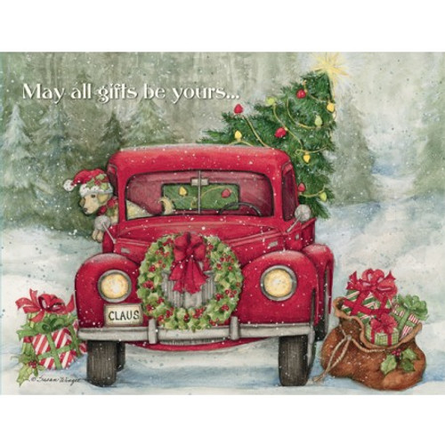 SANTA'S TRUCK BOXED CHRISTMAS CARD