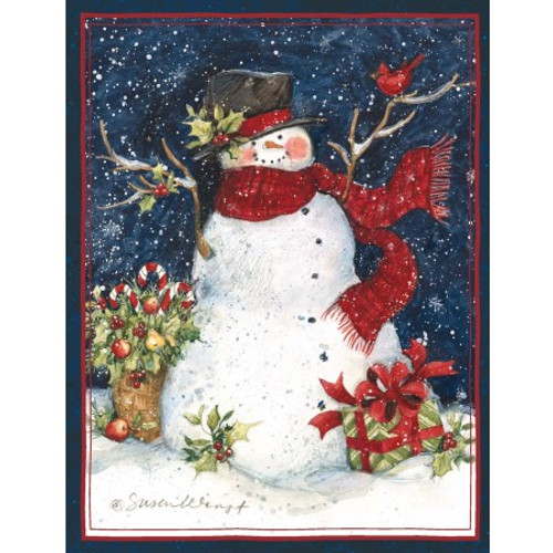 SNOWMAN SCARF CHRISTMAS CARDS