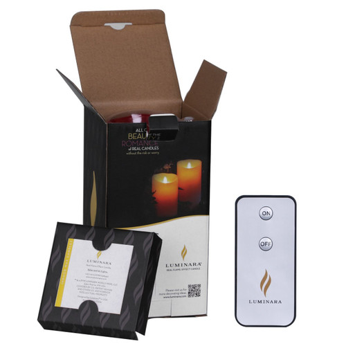 """Luminara Flameless Candle with Remote & Timer Included, Moving Wick Wax Candle for Home, Party, Wedding Decor, 3.5""""Dx5""""H Burgundy"""