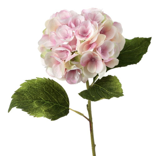 19'' PINK PLUSH SILK HYDRANGEA STEM PICK