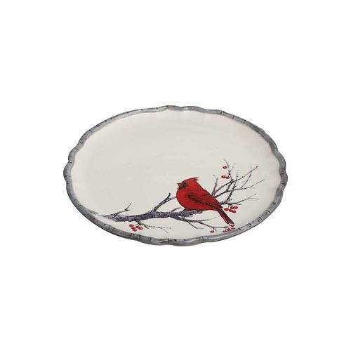 Small Dolomite Woodland Cardinal Plate