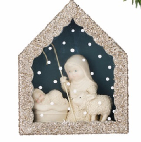 Snowbabies - Shepherd and Flock Shadow Box Ornament