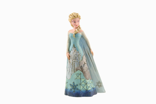 Jim Shore Disney Traditions- Elsa Frozen with Ice Castle Dress