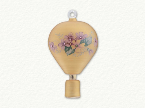 EGYPTIAN GLASS FLORLAL HOT AIR BALLOON ORNAMENT