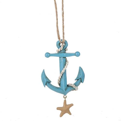 Blue Anchor Ornament