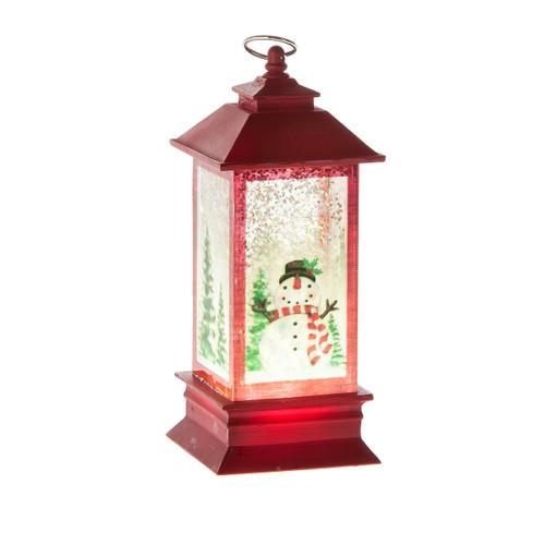 Mini LED Snowman Lantern Shimmer