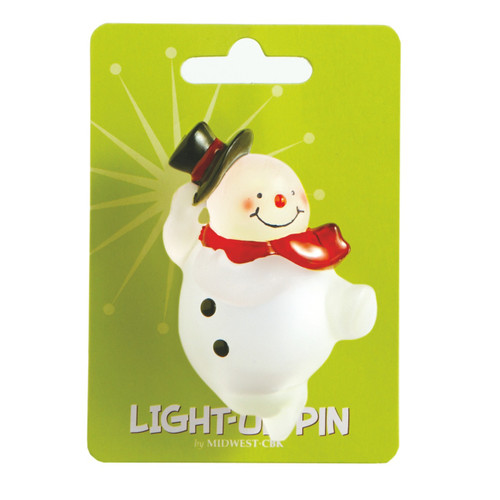 Snowman Light Up Pin