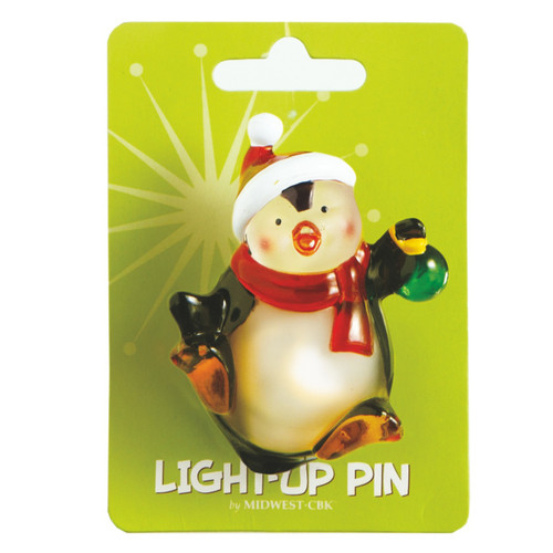 Penguin Light Up Pin