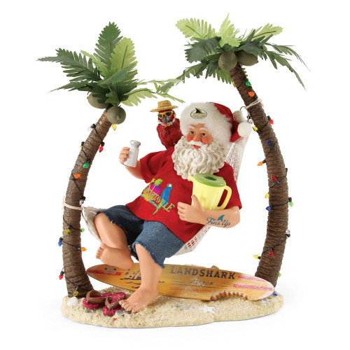 *2017* Department 56 - Clothtique Santa - Margaritaville Wastin' Away Again
