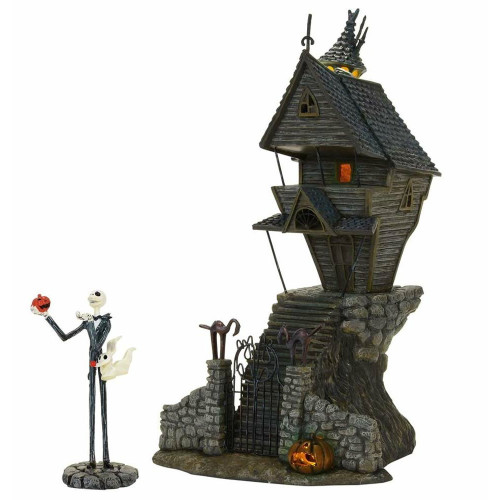 *2017* Department 56 - Nightmare Before Christmas Village - Jack Skellington's House Set of 2