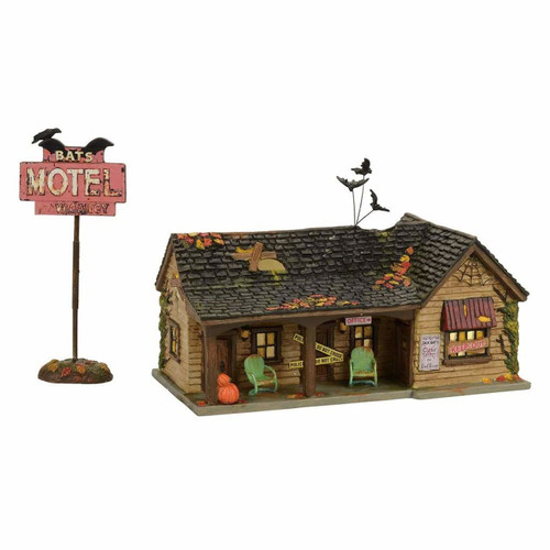 *2017* Department 56 - Halloween Village - Bat's Motel Set of 2