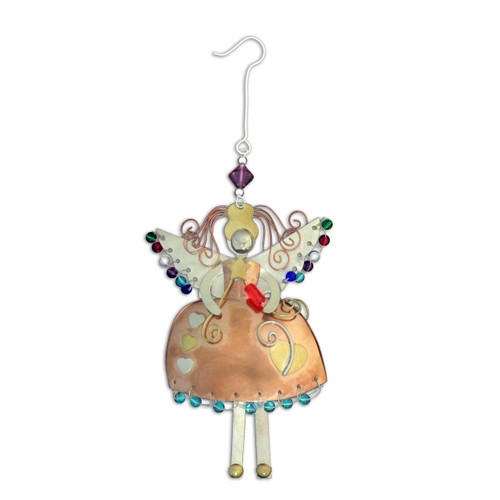 Pilgrim Imports - Handcrafted, Fair Trade,  Brass Angel Ornament