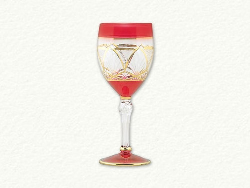 Egyptian Museum Red and Gold Wine Glass
