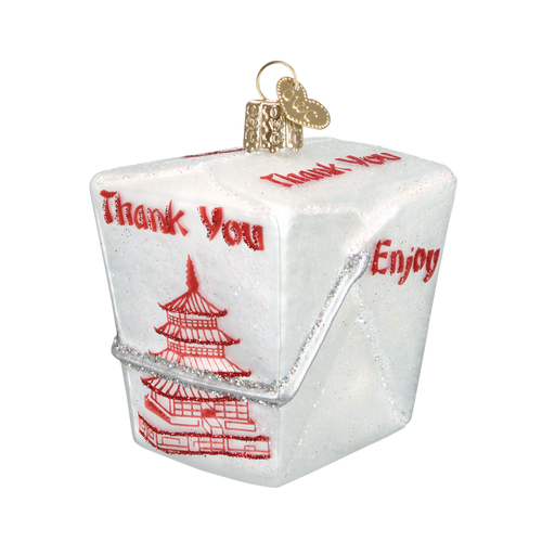 Old World Glass - Chinese Take Out Box Ornament