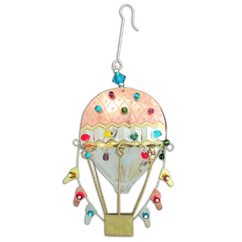 Pilgrim Imports - Handcrafted, Fair Trade,  Metal Hot Air Balloon Ornament
