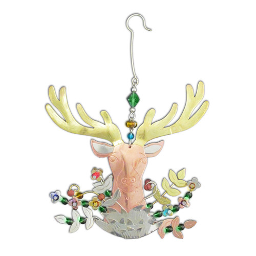 Pilgrim Imports - Handcrafted, Fair Trade,  Metal Buck The Deer Ornament