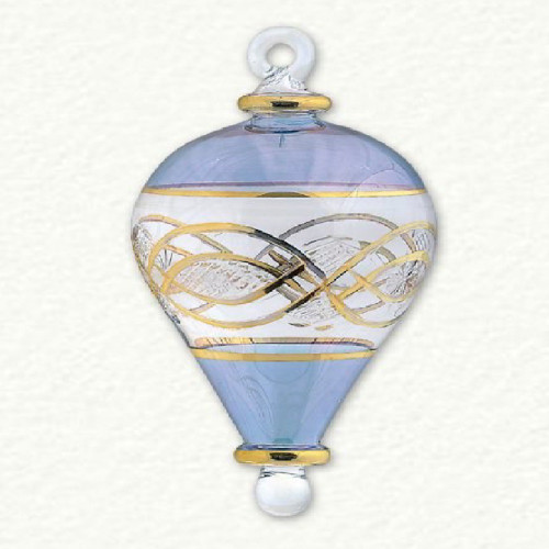 Egyptian Glass Blue Balloon Ornament