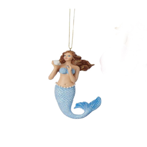 Ocean Blue Mermaid Ornament
