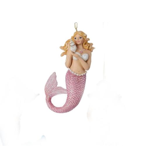 Pink Mermaid Ornament