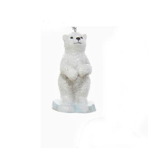 Polar Bear Standing on Iceberg Ornament