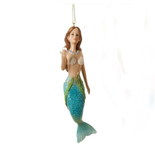 Bright Blue and Green Mermaid Ornament