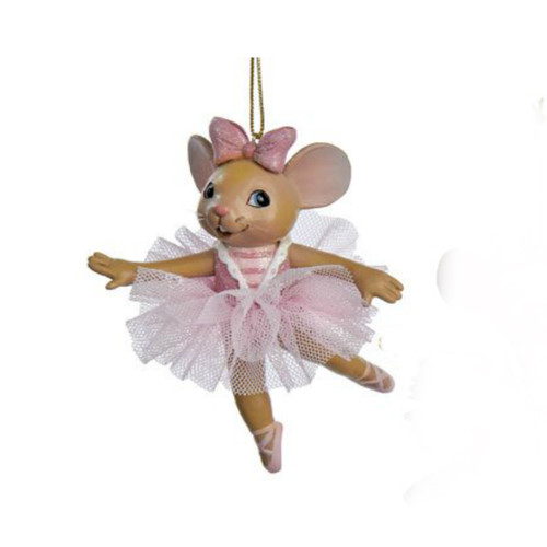 Ballerina Mouse Ornament