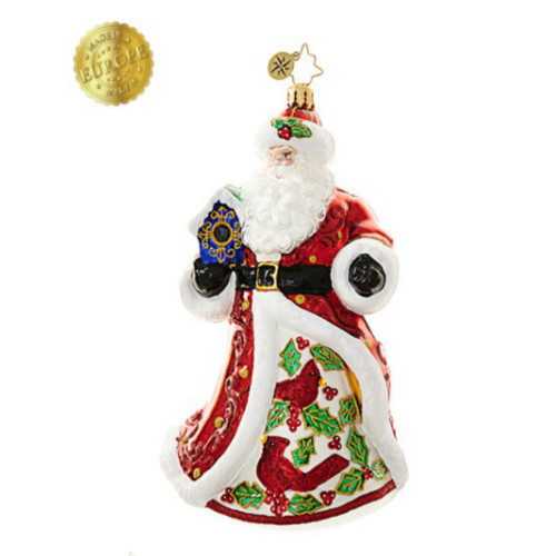 *2017* Christopher Radko - Crimson Cardinal Nicholas Ornament