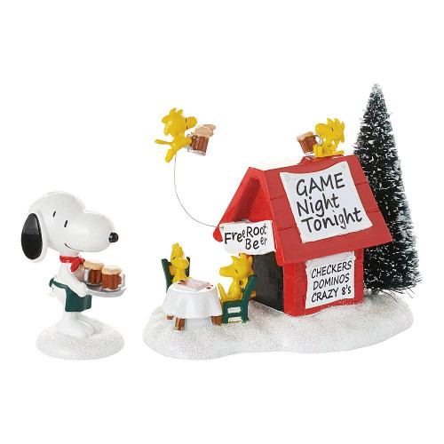 *New 2017* Department 56- Peanut Village- Snoopy's Game Night