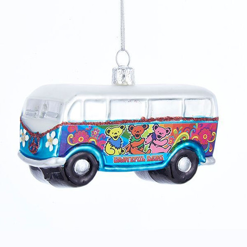 Grateful Dead Glass Bus Ornament