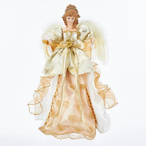 Ivory and Gold Angel Tree Toppers