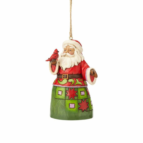 *New 2017* Jim Shore Heartwood Creek- Santa with Cardinal Ornament