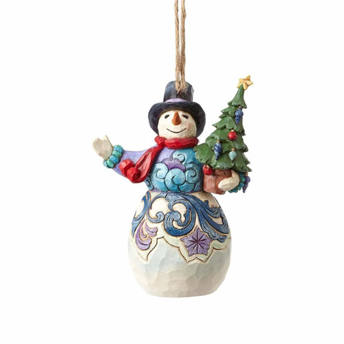 *New 2017* Jim Shore Heartwood Creek- Snowman with Tree Ornament