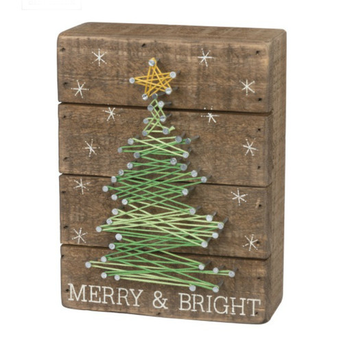 Merry and Bright String Sign
